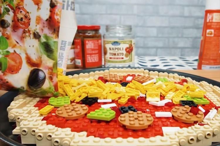 レゴブロックで作るピザの料理動画がレゴなのに美味しそう!心地良い効果音が食欲をかきたてる!