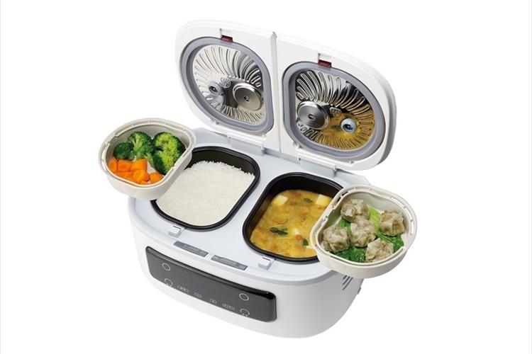 一度に最大4品ほったらかし調理!ご飯とおかずが同時にできる自動調理鍋『ツインシェフ』発売!