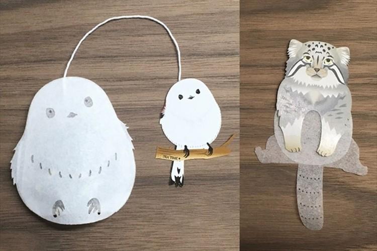 雪の妖精「シマエナガ」&ぽってり可愛い「マヌルネコ」のティーバッグがめっちゃキュート!