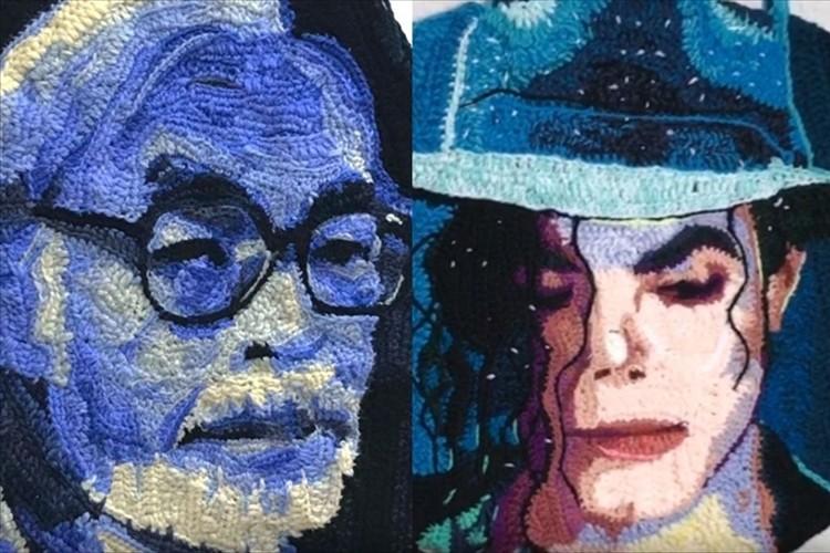 宮崎駿監督にマイケル・ジャクソン・・・人物を手編みで再現する現代アーティストが凄すぎる!