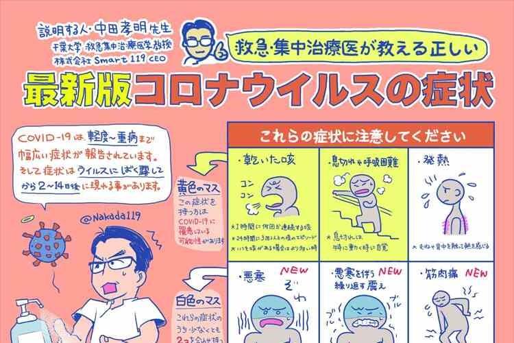 これらの症状に注意!救急・集中治療医が教える「最新版コロナウイルスの症状」