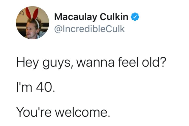 『ホーム・アローン』の子役が40歳!?マコーレー・カルキンの投稿に世界中が老いを実感