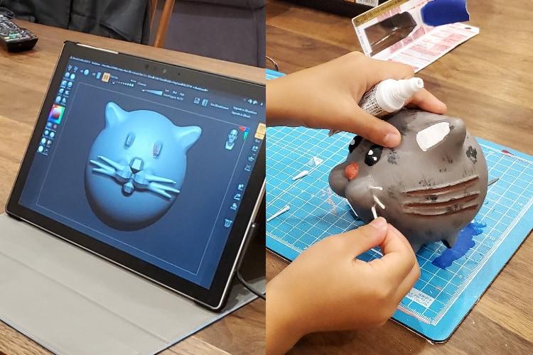 凄い時代だなぁ!小2の娘が自由工作で3Dプリンターを使った猫ちゃんを制作