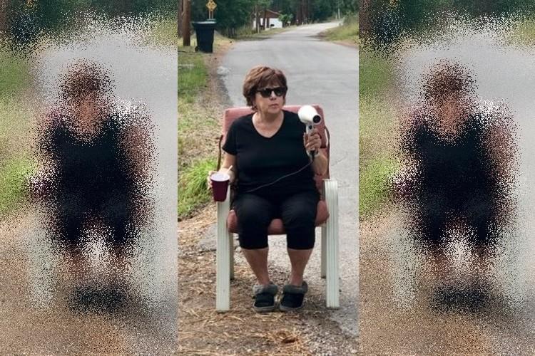 毎日ドライヤーを持って道路沿いに座る謎の女性の目的とは!?