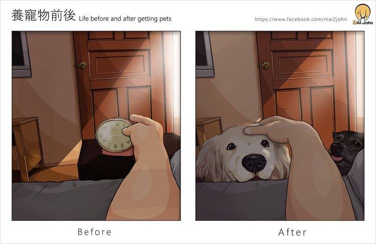 世界が共感!ペットを飼うと訪れる変化あるあるのイラストがわかりみ!