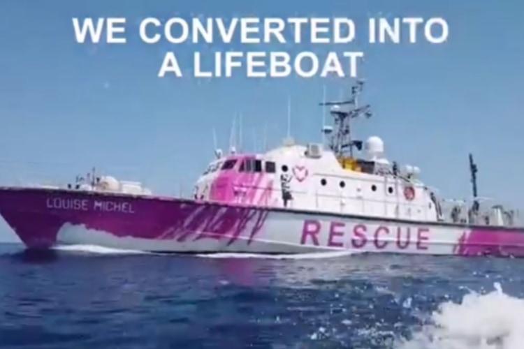 最新作は船に!バンクシーが救助船に出資し、難民や移民を救助する民間活動を支援