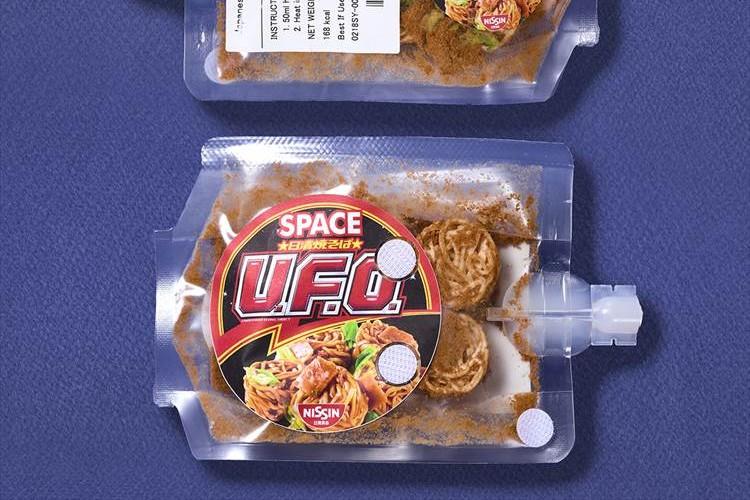 野口宇宙飛行士が宇宙で「U.F.O.」と遭遇!?お馴染みの焼きそばが宇宙日本食認証を取得!