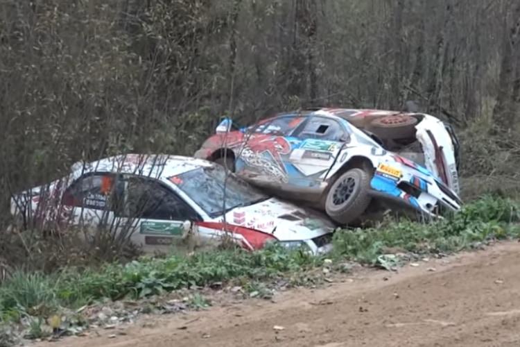 危険すぎる魔のカーブ!ロシアで開催されたラリーカップで6台が次々と事故る衝撃映像が話題に