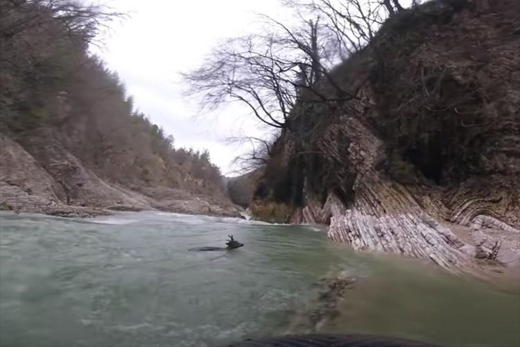 川でカヤックを楽しむグループが急流に流されるシカを決死の救出!【イタリア】
