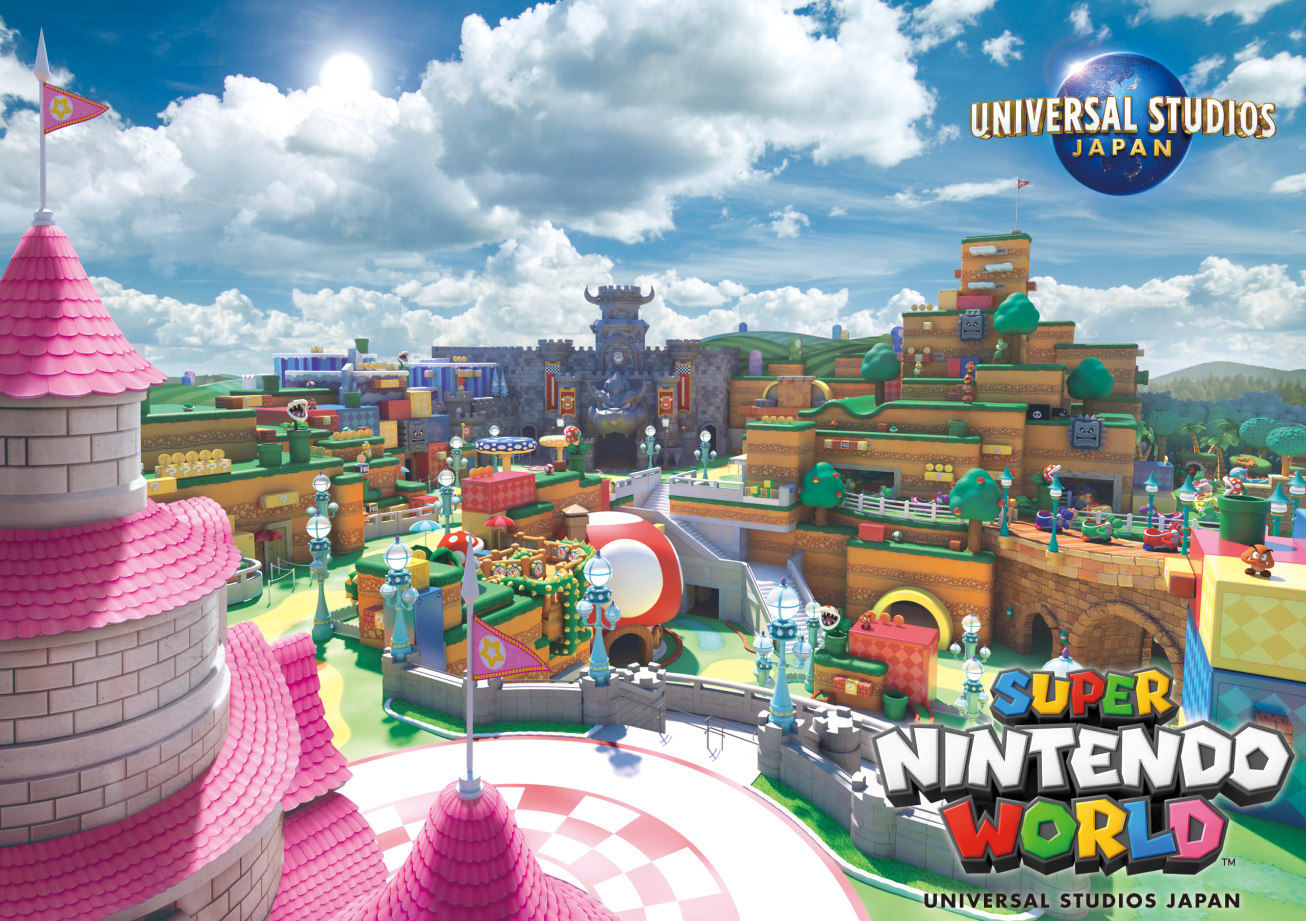 世界初!USJに任天堂をテーマにしたエリア『SUPER NINTENDO WORLD』2021年春開業!