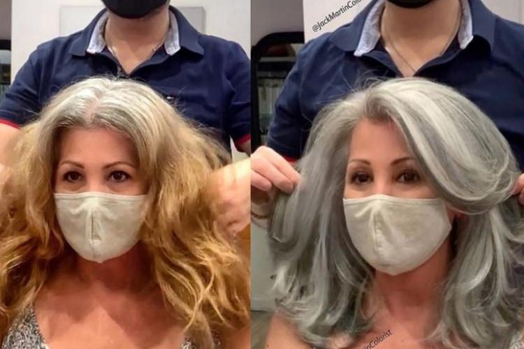 白髪染めはもういらない?美しいグレイヘアをつくり出す美容師のインスタが海外で大人気に!