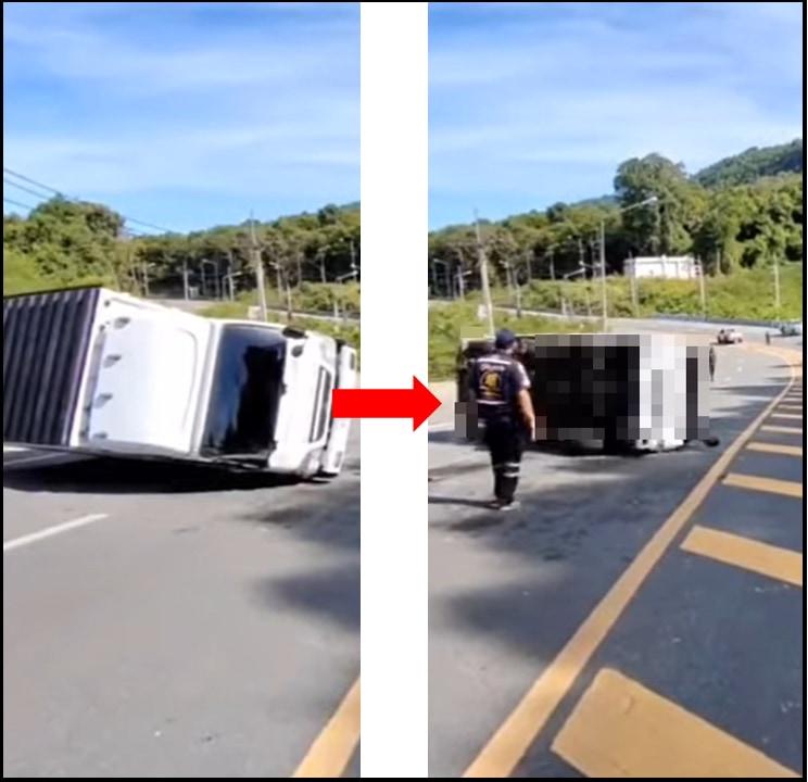 横転したトラックを立て直せ!うまくいくかと思いきやまさかの大惨事が