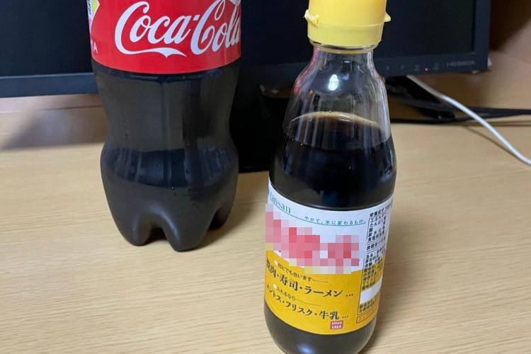 むせそうで怖い(笑) コーラ飲みすぎ防止のために作ったあの調味料風の詰め替えボトルが効果絶大!