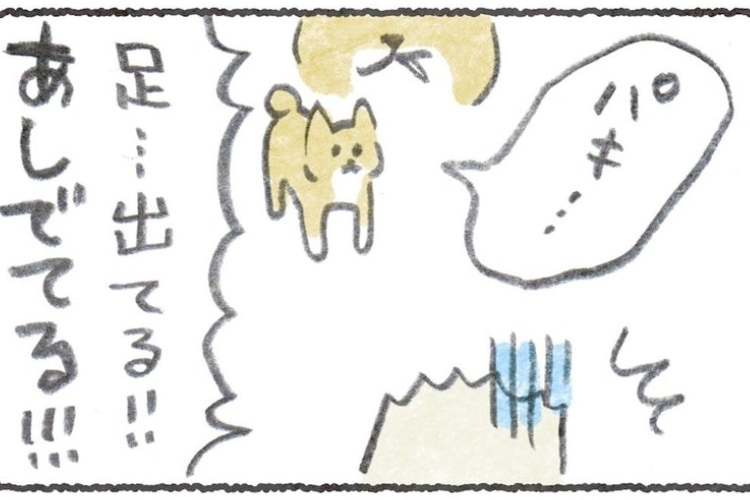 【漫画】えっ、口からポリって聞こえた!?愛犬の横でGを殺したら恐怖した話のオチに笑った