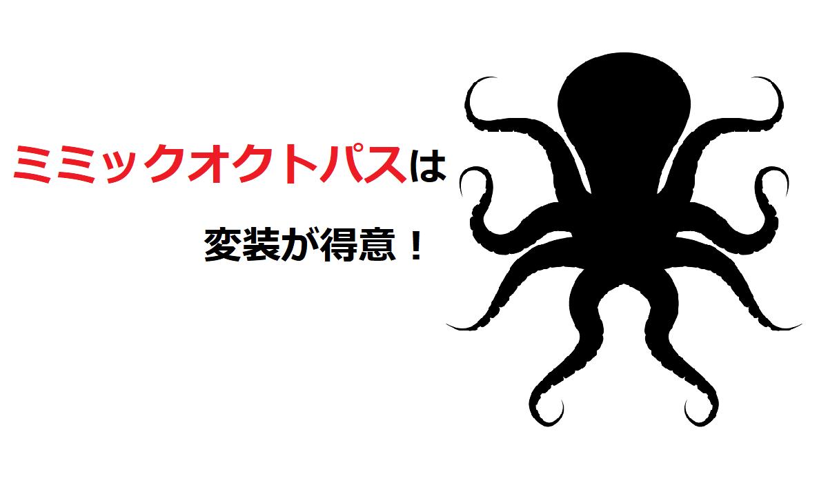 「ミミックオクトパス」は変装が得意!その対象は魚やウミヘビ、ヒトデまで!!