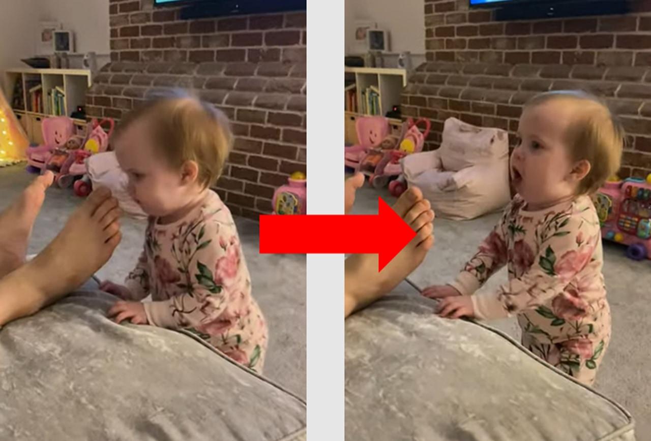 お父さんの足の匂いはいかが?赤ちゃんによる足臭チェックが可愛い!