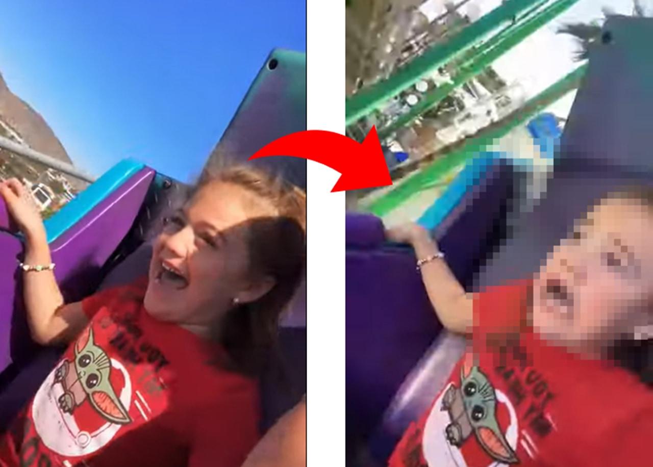 楽し気な表情から恐怖のドン底へ。5歳少女のジェットコースターデビューが面白い!