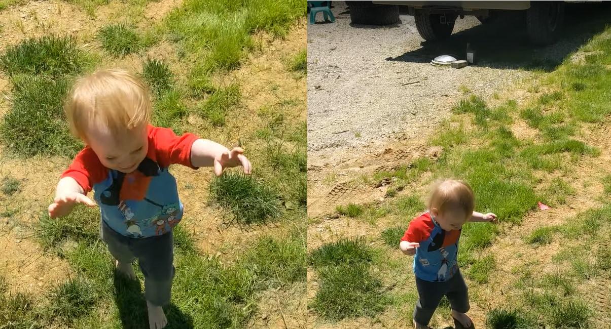 「こうやって人は成長していくんだね」身近な『あるもの』の存在に気付いた赤ちゃん、大パニック!!