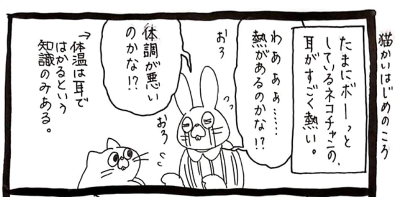 【漫画】ネコちゃんの耳が熱い!心配して病院に連れていった結果・・・まさかの理由でした!