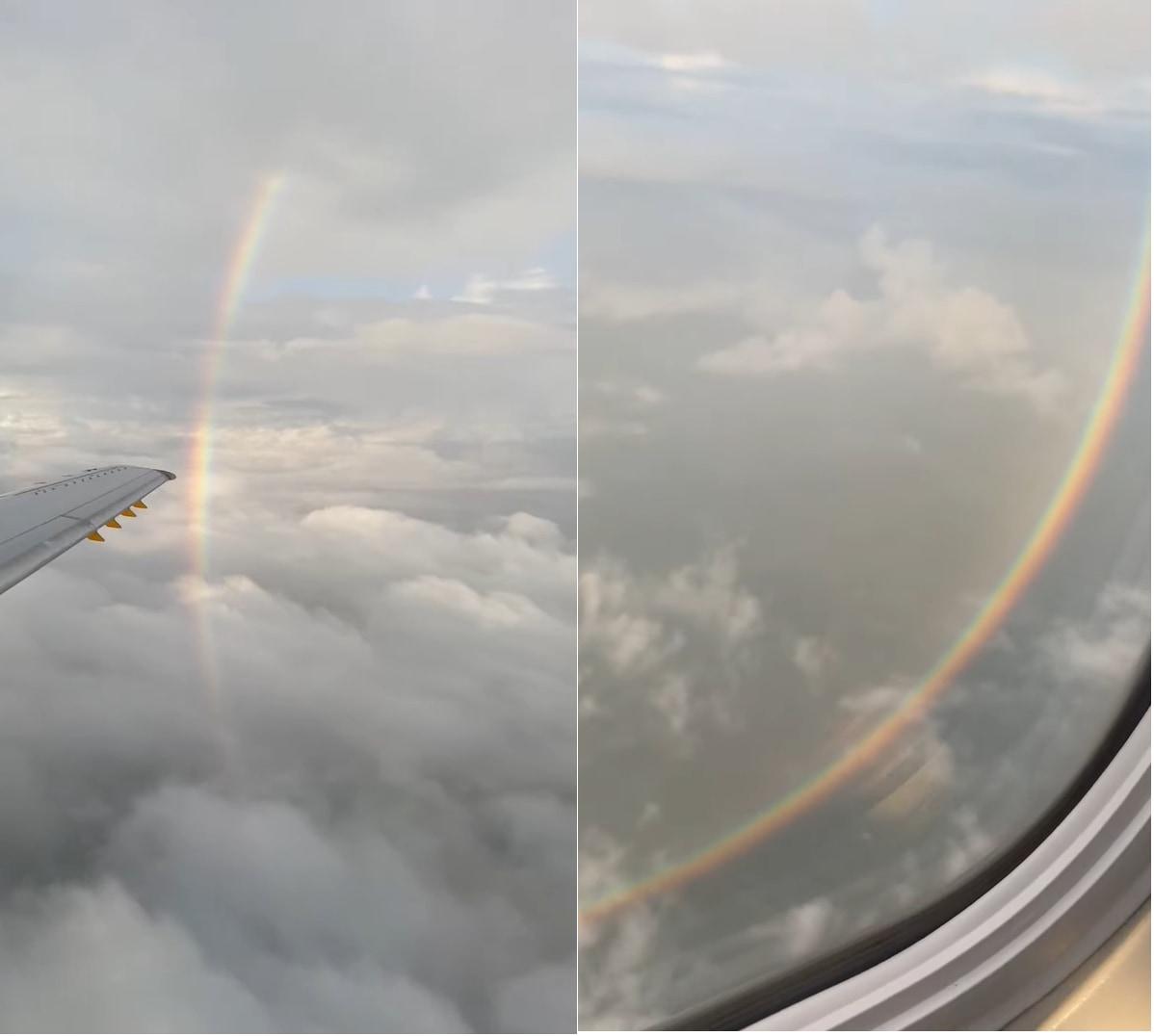 地上では見られない?!幻想的な『円』を描く虹!!