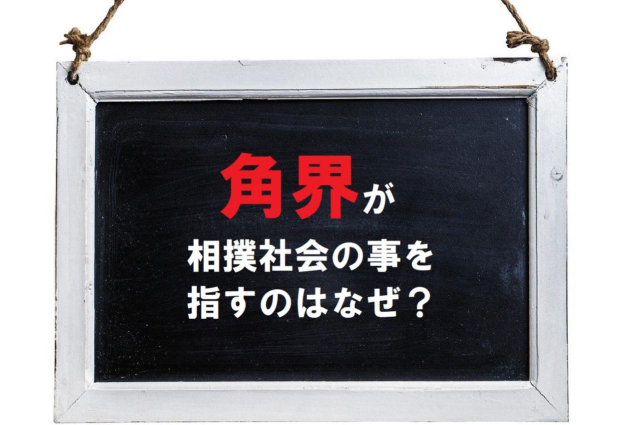 相撲社会の事を「角界」ともいうのはなぜ?その理由は相撲の別表記から!