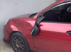 何者かによって破壊されていた車・・・、その犯人はまさかの!!