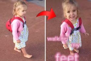 小さいこと(?)は気にしない!お母さんがはだしで歩く娘に「靴はどうしたの?」と聞いてみたら・・・