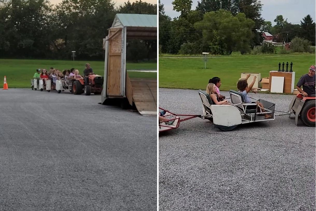 これはスゴ楽しそう!教会にトラクターを使った子供用の「○○○○」ができました!!